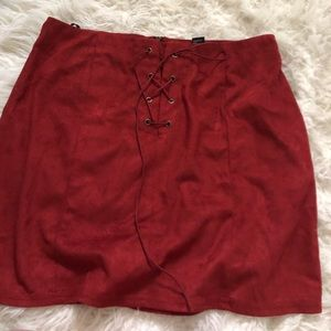 NWOT Suede mini skirt